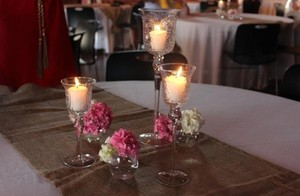 Multicolor 3 Tier Glass Goblets Centerpiece