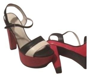 Stuart Weitzman Red, white, black Platforms