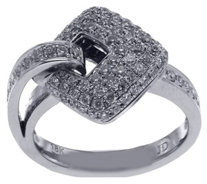 BRAND NEW, Ladies Buckle Pave Diamond Ring