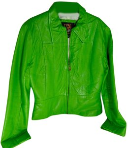 Luis Alvear Leather Green Leather Jacket
