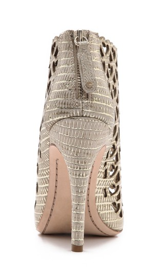 Alice + Olivia Natural/Pale Gold Boots Image 3