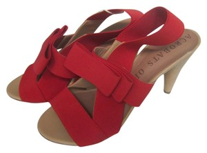 Acrobats of God Bowtie Heels Red Pumps