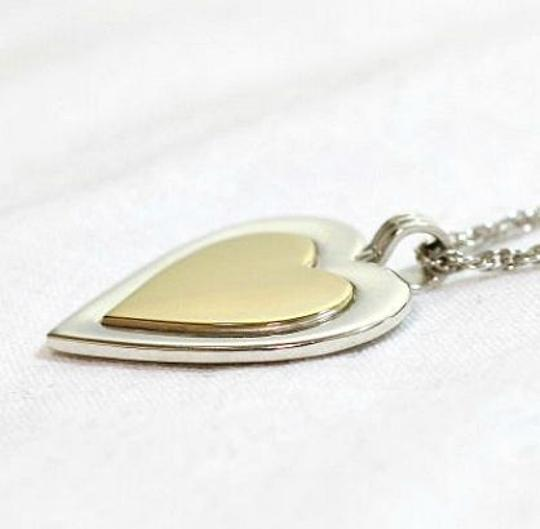 Tiffany & Co. Authentic Tiffany & Co. Sterling Silver & 18K Gold Heart Pendant Necklace
