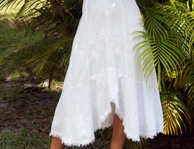 Lirome short dress White Unique Cottage Chic Summer Bohemian Beach on Tradesy