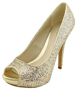 ALDO METALLIC GOLD Pumps