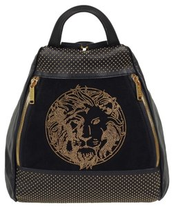 Versus Versace Leather Gold Lion New Backpack