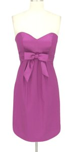 Purple Satin Sweetheart Bow Formal Size:small Dress