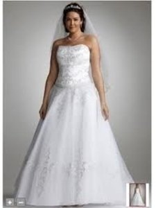 David's Bridal White 9wg9927 Wedding Dress Size 24 (Plus 2x)