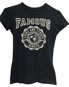 PacSun Black T Shirt Navy Blue