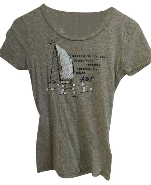Abercrombie & Fitch T Shirt Light Gray
