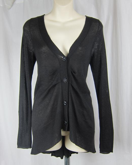Anthropologie Sweater Charcoal V-neck Long Sleeved Cardigan
