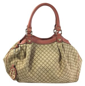 Gucci Gg Monogram Canvas Shoulder Bag