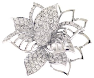 BRAND NEW, Ladies White Gold Diamond Flower Ring