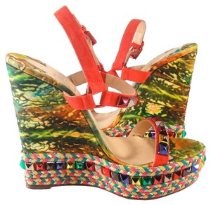 Christian Louboutin Cubana Cataclou 40 Multi Wedges