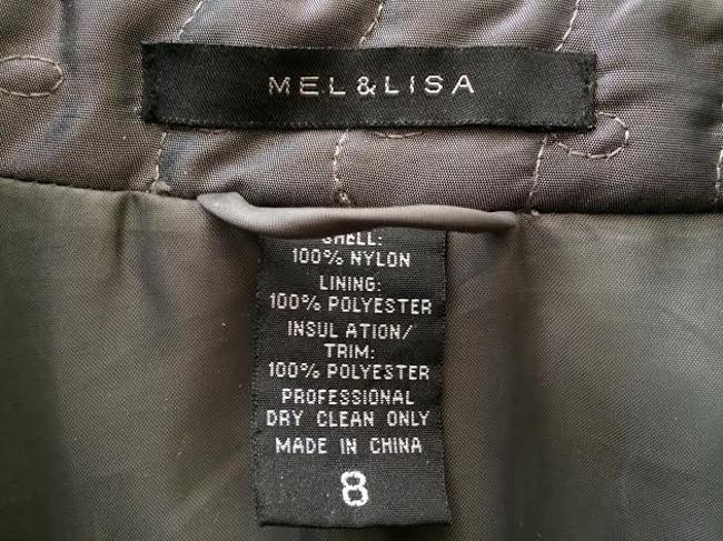 Mel & Lisa Quilted Grey Jacket