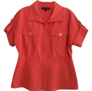 Lafayette 148 New York Top Coral