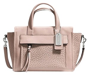 Coach 27923 Satchel Pink Pebble Leather Carryall Cross Body Bag
