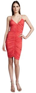 Halston Stretchy V-neck Evening Dress