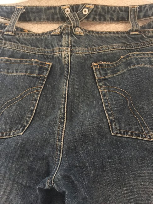 Dolce&Gabbana Cut-out Dolce & Gabbana D&g Sexy Fitted Distressed Medium Wash Designer Rare Straight Leg Jeans