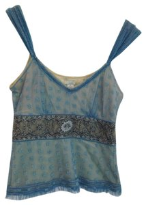 Odille Anthropologie Lace Top Teal Green