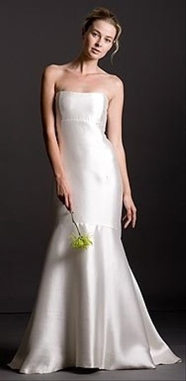 Jenny Yoo Ivory Shantung Modern Wedding Dress Size 0 (XS)