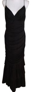 Carmen Marc Valvo Rouched Layered 100% Silk Dress
