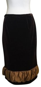 Grace Elements Velvet Skirt Brown