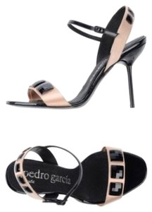 Pedro Garcia New Crystal Stiletto Slim Heel Evening Nude Sandals