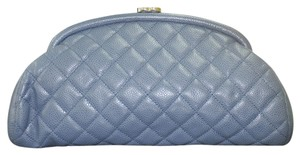 Chanel Kisslock Blue Clutch