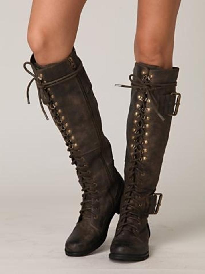 Jeffrey Campbell Brown Boots High Plains Boot Size 7 67