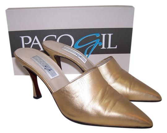 Preload https://item1.tradesy.com/images/paco-gil-leather-gold-mules-5203270-0-0.jpg?width=440&height=440