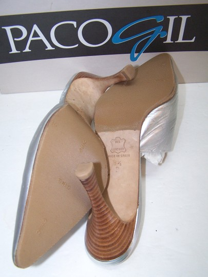 Paco Gil Leather Gold Mules