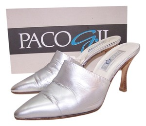 Paco Gil Silver Mules
