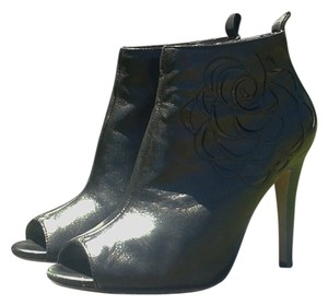 Vince Camuto Leather Open Toe Bootie Black Boots