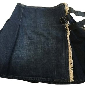 Burberry Demin Jean Skirt Pleated Mini/Short Shorts Denim