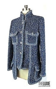 Chanel Hi Lo Incredible Spring 15 Act Current blue/white Jacket