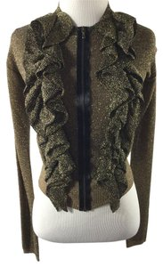 Lanvin Cropped Metallic Knit Sweater