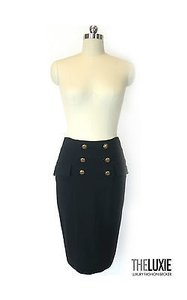 Diane von Furstenberg Fitted Pencil So Chic Try W Crop Top Skirt Black