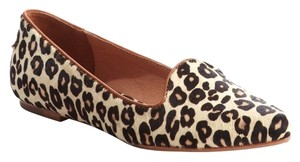 Joie Cheetah Calf Hair Hair Tan/Black Flats