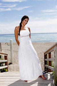 White Maxi Dress by Lirome Embroidered Crochet Summer
