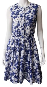 Rebecca Minkoff short dress Blue Printed Open Back on Tradesy