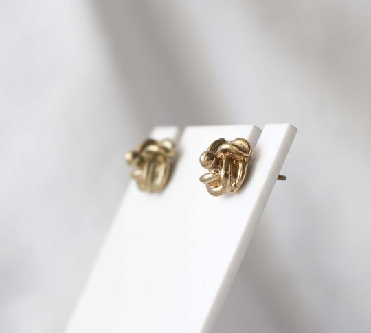 Other Simple Vintage Twist Bronze Studded Earrings