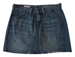 Gap Mini Skirt Denim Blue