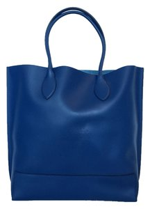 Mulberry Leather Tote in Blue