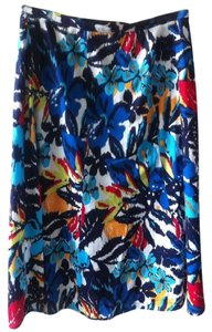 Chico's Floral 100% Skirt Multi
