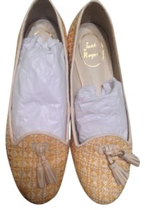 Jack Rogers White and Gold Flats