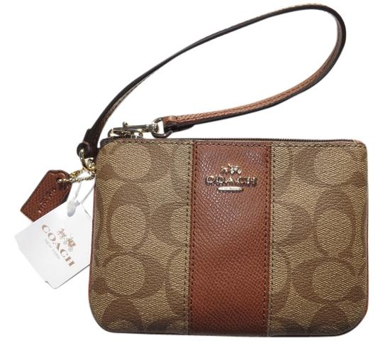 Coach COACH Wristlet Wallet Small coin Purse Bag New NWT SIGNATURE