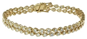 Ladies Gold and Diamond Tennis Bracelet