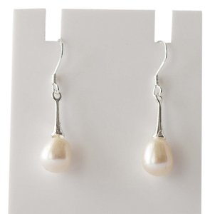 South Sea Pearl Sterling Silver Dangle Earrings