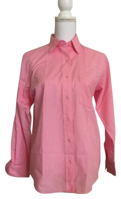 Foxcroft Size 4 Button Down Shirt Pink